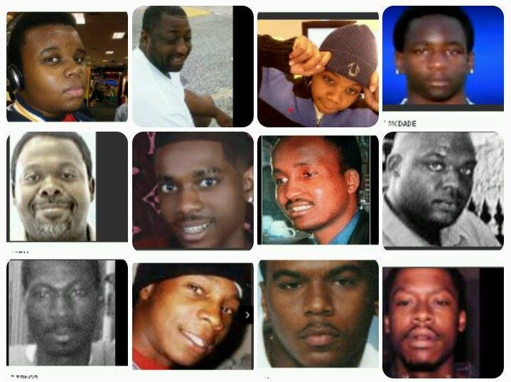 collage of black people killed by police