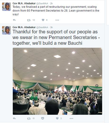 Bauchi governor tweet
