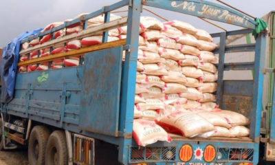 border closure Customs bags of rice