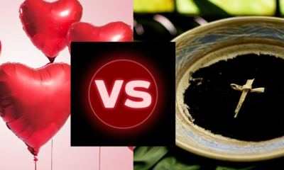 valentine vs Ash wednesday