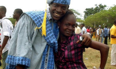 Adekunle Gold and late sister