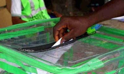 Lady snatches ballot box at Lagos LG Poll