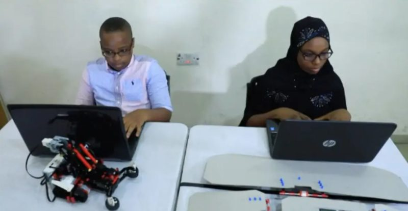 Nigerian 12-year-old kids build robots that help with housework