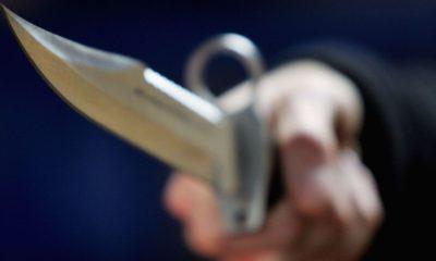 woman cuts husband's tongue Woman stabs husband Stab to death