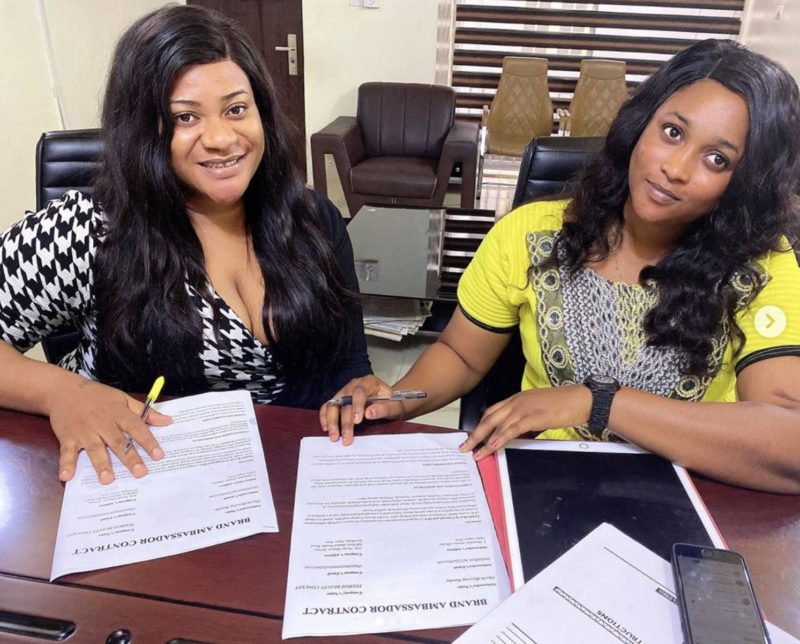 Nollywood actress, Nkechi Blessing Sunday, signs endorsement deal with  hairdressing and barbing saloon - WuzupNigeria