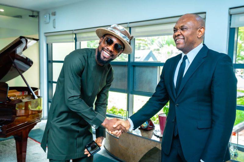Tony Elumelu hosts Patoranking in Lagos