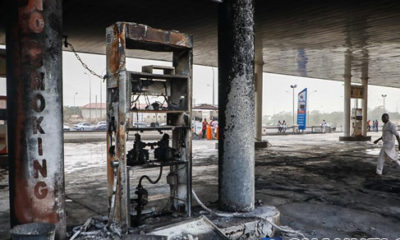 Fire guts filling station in Abuja (photos)