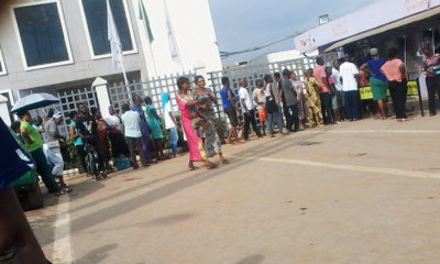 COVID-19: Banks, ATM points, malls witness long queues in Ibadan