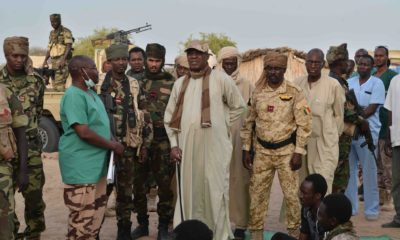 Chadian soldiers led by President Idriss Debby capture Boko Haram's weapons warehouse in Sambisa