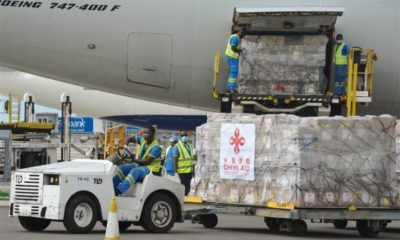 China's medical supplies for 18 African countries arrive in Accra