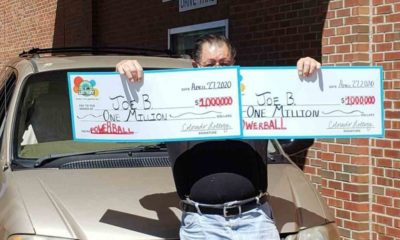 Man wins $1m lottery jackpot twice in same day after playing for 30 years