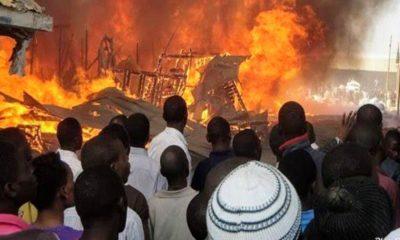 Kaduna: Fire razes over 20 shops