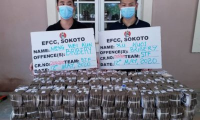 Two Chinese nationals offer EFCC boss N100m to cover-up graft in Zamfara's N50bn contract, land in custody