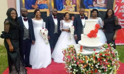 Triplet sisters wed triplet brothers in Enugu (photos)