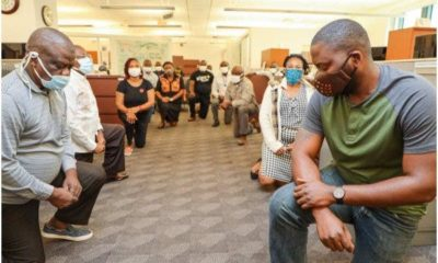 #BlackLivesMatter: US embassy staff in Nigeria join justice for George Floyd' protest