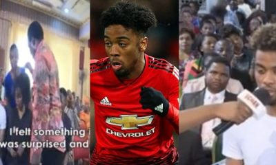 TB Joshua healed my leg, Man U's Angel Gomes speaks on deliverance visit to Nigeria (Video)