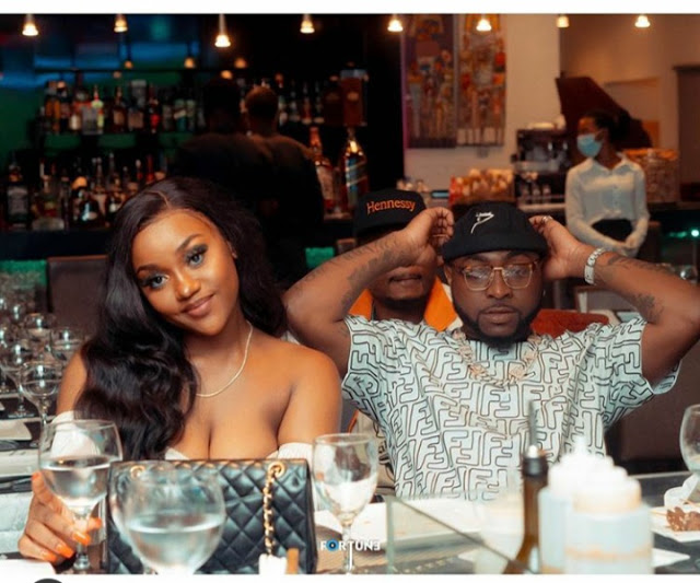 Davido, Chioma spotted on dinner date