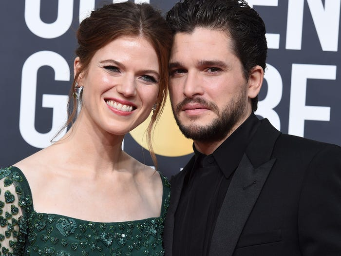 Rose Leslie and Kit Harington Game of Thrones