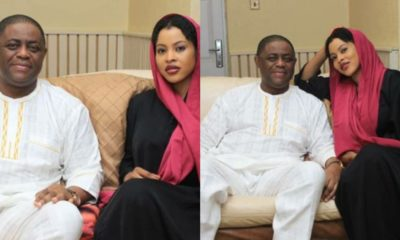 Nigerians react as Femi Fani-Kayode shares pics with reported fifth wife