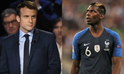 Emmanuel Macron and Paul Pogba
