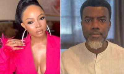 Toke Makinwa and Reno Omokri