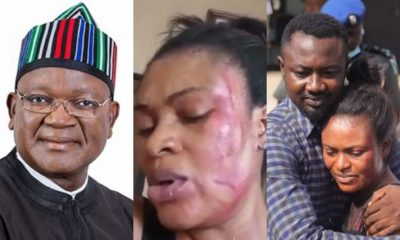 Nigerians slam Gov Ortom for reconciling Channels TV report, wife