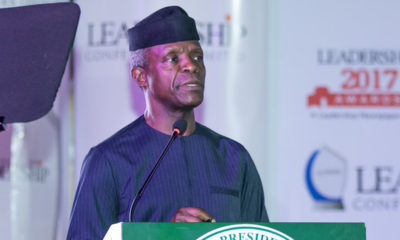 Osinbajo Politicians Nigeria church