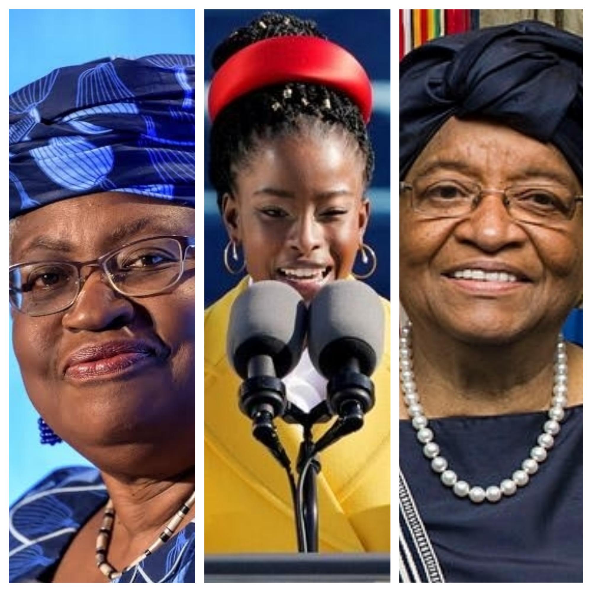 International Women's Day -Ngozi Okonjo-Iweala-Amanda Gorman-Ellen Johnson Sirleaf