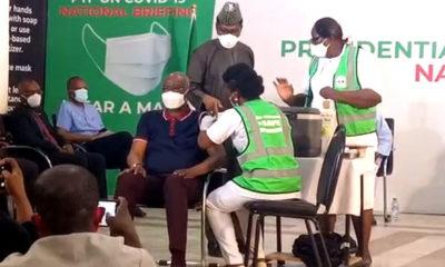 Adeleke Mamora, SGF, Ehanire, PTF, COVID-19 vaccines, Lai Mohammed, Ihekweazu