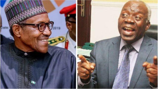 Femi Falana, Delta State Ibori loot Buhari