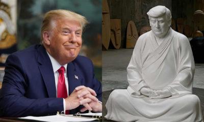 China, Donald Trump statue, Chinese online shopping platform,