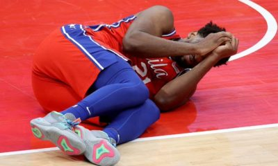 Embiid Injury 76ers Wizards NBA