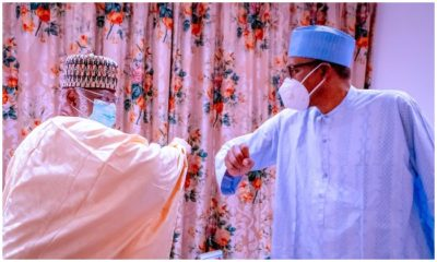 Buhari meets Abdulsalami, Aso Villa, Abdulsalami