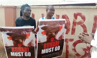 Two Kogi youths arrested with 'Buhari-Must-Go' posters