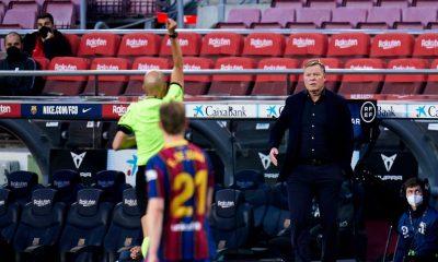 Romald Koeman Barcelona red card match suspension ban