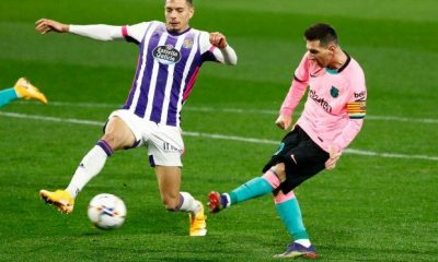 Messi boots charity record Pele Valladolid Barcelona