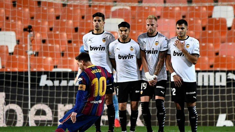 Barcelona Messi Valencia La Liga