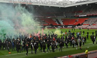 Man Utd Old Trafford invasion Liverpool Premier League fans police