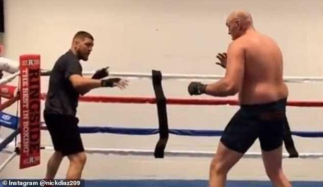 Mick Diaz Tyson Fury Anthony Joshua Boxing UFC