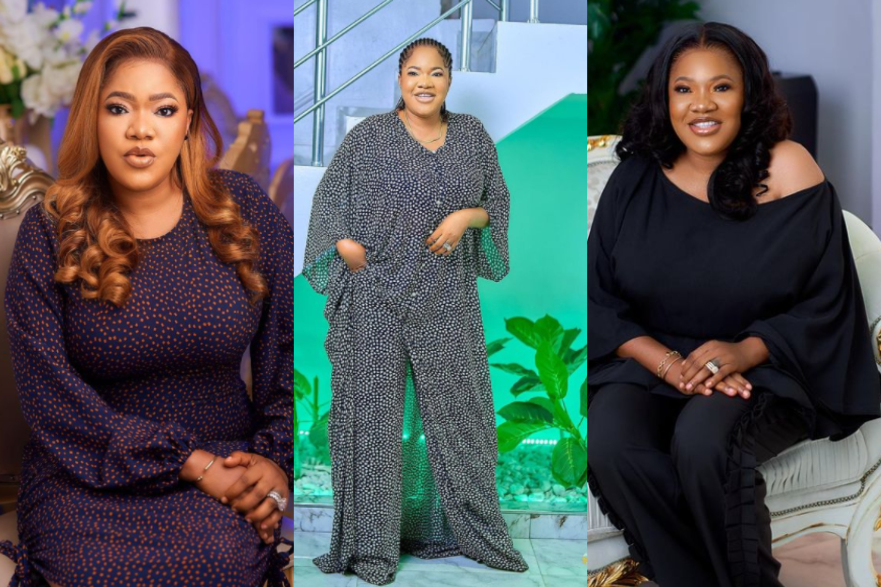 Actress Toyin Abraham empowers five fans, gives them brand new sewing machines