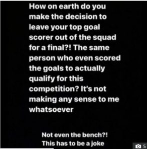 Tammy Abraham's girlfriend slams Chelsea manager for snubbing striker in FA Cup final