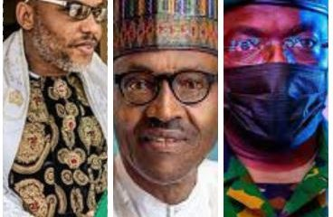 Attahiru: Nnamdi Kanu reacts to Buhari's absence at burial