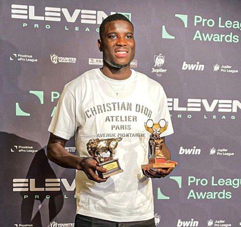Onuachu Belgian Player of the Year Golden Bull Awards
