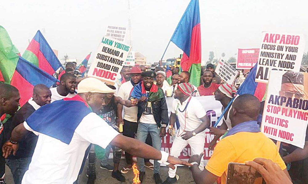 Ijaw Youths NDDC H@ protests