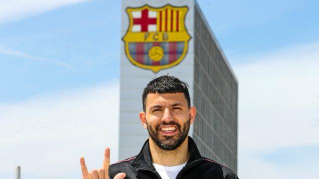 Aguero Barcelona Man City