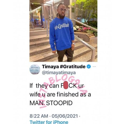 Timaya tweet