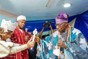 Obasanjo Stephanie Coker-Aderinokun and Olumide Aderinokun coronation Owu Land