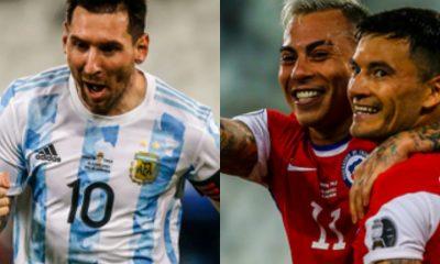 Vargas Messi Argentina Chile Copa America