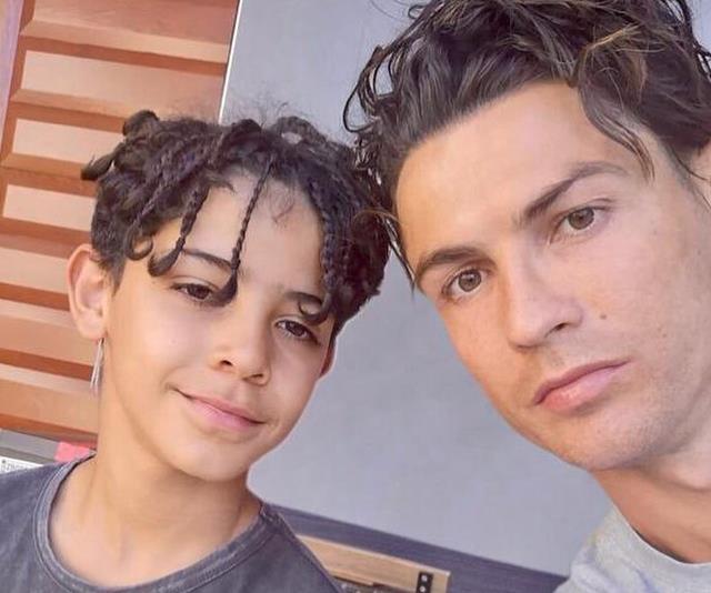 Christiano Ronaldo and son