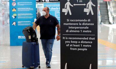 ITaly UK quarantine travellers COVID-19